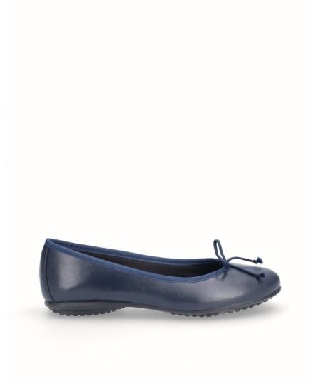 Zapato bailarina francesita piel marino