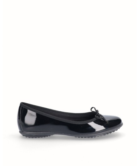 Zapato bailarina francesita charol negro