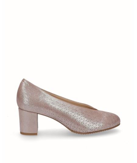Zapato piel fantasia planta extraible astana taupe
