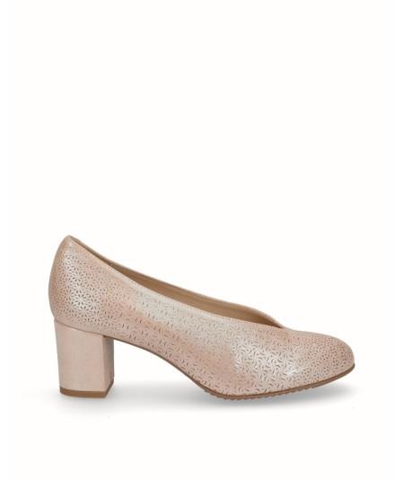 Zapato piel fantasía planta extraíble rosa