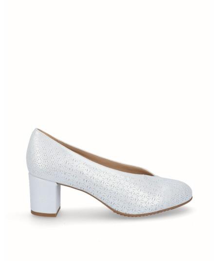 Zapato piel fantasía planta extraíble blanco
