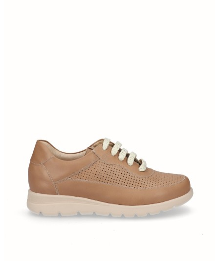 Sporty natural camel leather removable plant