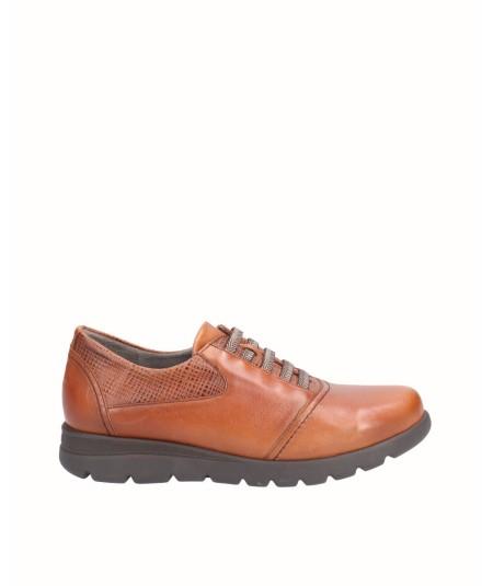 Zapato piel cuero con elástico