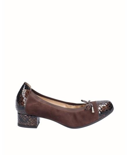 Burgundy snake engraved patent leather high heel lounge shoe